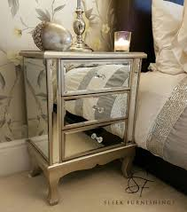 mirrored bedside furniture. Pair Of Mirrored Bedside Tables Bedroom Furniture Mirrored Bedside Furniture