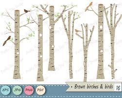 Birch Tree Clip Art Winter Forest Tree Branch Clipart