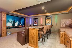basement home theater bar. Small Basement Home Theater Ideas Hidden Simple Light Orange Painting Color Bar