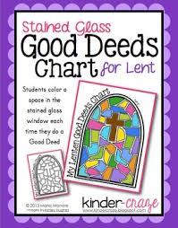 Lenten Stained Glass Good Deeds Chart