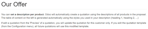 Services Quotation Template Use Quotation Templates Odoo 11 0 Documentation