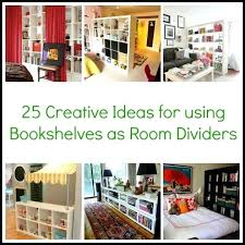bookshelf wall divider bookcase as room dividers diy