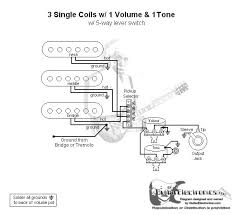 3 single coils, master volume, master tone strat wiring diagrams Electric Guitar Wiring Volume And Tone 3 single coils, master volume, master tone strat wiring diagrams pinterest guitars Guitar Wiring For Dummies