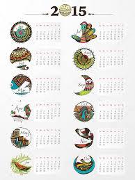 Annual Calendar 2015 Creative Calendar Of New Year 2015 Stock Vector