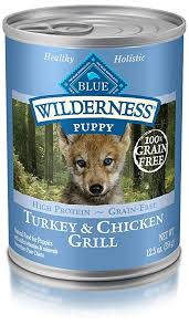 Blue Buffalo Wilderness High Protein Grain Free Natural Puppy Wet Dog Food Turkey Chicken Grill 12 5 Oz Can Pack Of 12