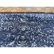 oriental rug galaxy tabriz oriental black silk blend hand knotted area rug 8 x 10 1 com