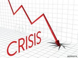 Down Arrow Chart Crisis Chart Profit Loss And Down Arrow Buy This Stock