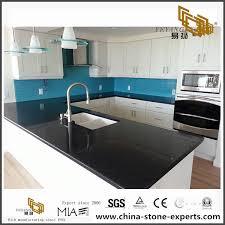 prefab sparkle black quartz countertop for project