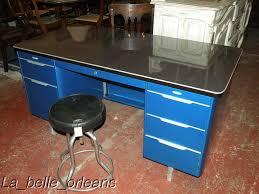 vintage metal tanker desk totally red for