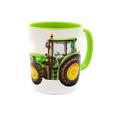 Extra large coffee cups mugs. John Deere Tractor Coffee Mug Novelty Farming Gift Countryside Green Funny Xmas Agricultural Industrial Telephoneheights Collectables