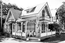 gingerbread houses oak bluffs martha s vineyard black and white