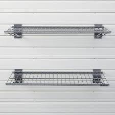metal bracket shelf silver 2 pack