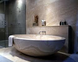 modern bathtubs made of wood and stone  interior design ideas