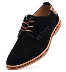 DADAWEN Men's Classic Suede Leather Oxford <b>Dress Shoes</b>