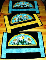 stained glass applique patterns advanced embroidery designs daffodil panel projects ideas