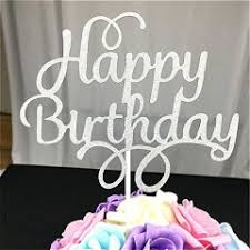 Other Toys 2 Pack Happy Birthday Cake Topper Glitter Party Event