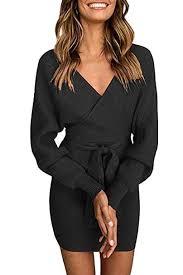 Yidarton Womens Jumper Dress Knitted Dress Sweater Dress ...
