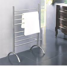 free standing towel rails are a great space saving option in any bathroom