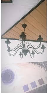 Kronleuchter Weiß Lampe Landhaus Gold Barock In 46446
