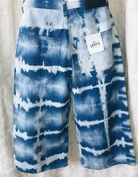 Levis Made And Crafted Size Chart Nwt Levis Made Crafted Boxy Trucker Jacket Tie Dye Denim