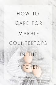 Wondering How To Care For Marble Counters? Donu0027t Miss These 5 Tips On