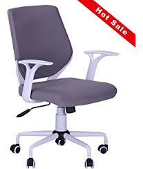 home office desk chairs chic slim. Rong Qiang Bai Da New Modern Grey Computer Desk Chair Comfort Mid -Back  Executive White Home Office Desk Chairs Chic Slim H
