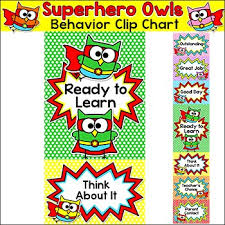 Owl Behavior Clip Chart Behavior Chart Superhero Owls Theme Clip Chart