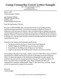 Camp Counselor Cover Letter Sample Tips Resume Companion Interesting Camp Counselor Resume