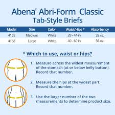 Abena Abri Form Classic Tab Style Adult Incontinence Briefs