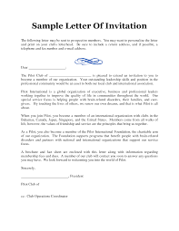 formal invitation letter template com best images of professional invitation letter sample