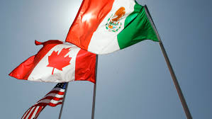 the bridge header image flags of the three nafta nations