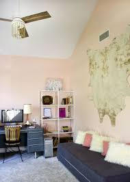 home office world. A Pink Home Office Makeover. Sherwin Williams Romance With World Market Accessories E