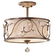 White fabric shade crystal modern drum Flush Mount Drum Chandelier Bronze Cap Floral Design With Crystals Decoration Full Size Adserverhome Interior Light Blue Fabric Drum Chandelier With White Shade