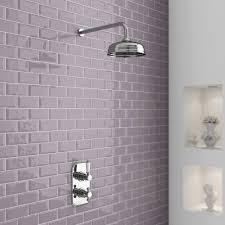 Edwardian Bathroom Tiles Premier Edwardian Twin Concealed Thermostatic Shower Valve With 8