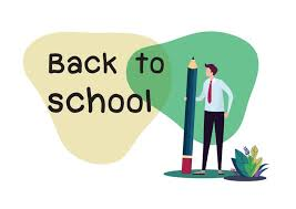 Welcome Back Graphics Welcome Back To School Flat Cartoon Vector Illustration