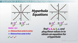 derive the equation of a hyperbola from the foci lesson transcript study com