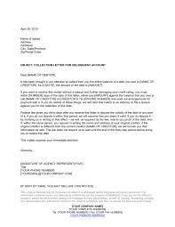 Delinquent Account Letter Template Collection Letter By Collection Agency Template Word Pdf