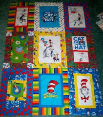 Shop   Category: Quilt Kits   Product: Dr. Seuss Off & Away Quilt ... & Psycho Quilter: Cat in the Hat Quilt almost done! Adamdwight.com