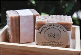 diy shampoo bar vegan moroccan red clay shampoo bar and soap bar vegan soap