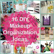 Diy Organization 16 Diy Makeup Organization Ideas A Little Craft In Your Day