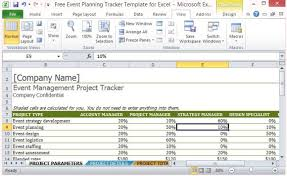 Microsoft Excel Free Templates Free Event Planning Tracker Template For Excel
