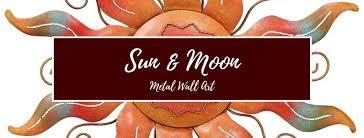 sun moon metal wall art wall