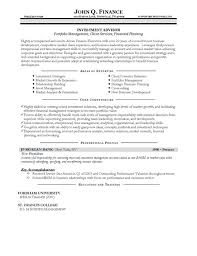 Financial Advisor Resume Template Unique Advisor Resume Example Inside Financial Advisor Resume Template