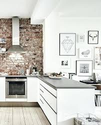brick wall kitchen kitchen modern white kitchen with brick wall minimalist kitchens with exposed brick walls brick wall