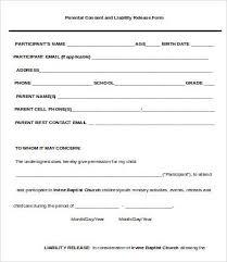 Liability Forms Template Under Fontanacountryinn Com