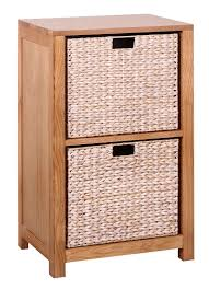 Storage Waverly Oak Storage Unit With 2 Baskets Hallowood