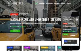 Newspaper Web Template Free News Times Entertainment Website Template W3layouts Com