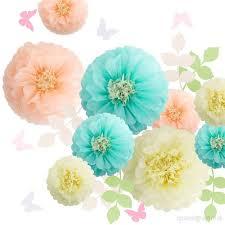 Paper Flower Archway Fonder Mols Paper Flowers Decorations Tissue Pom Poms Blooms
