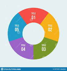 Pie Chart Circle Infographic Or Circular Diagram Stock