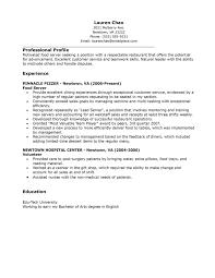 resume responsibilities crew member resume sample restaurant resume responsibilities crew member resume sample restaurant server